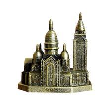 Church Model Ornament Metal Crafts Tourist Monument Ornaments Decorations Simple Retro Large Architectural Decorative