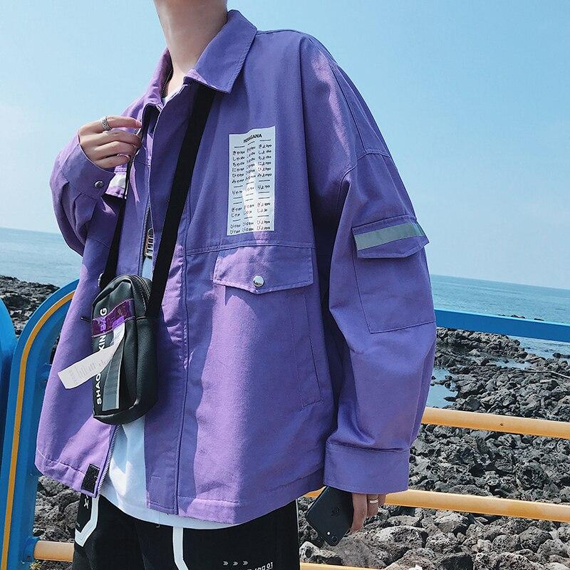 DARK ICON DARKICON Front Pocket Thin Style Casual Jackets Men 2019 Autumn Streetwear Mens Jackets Men
