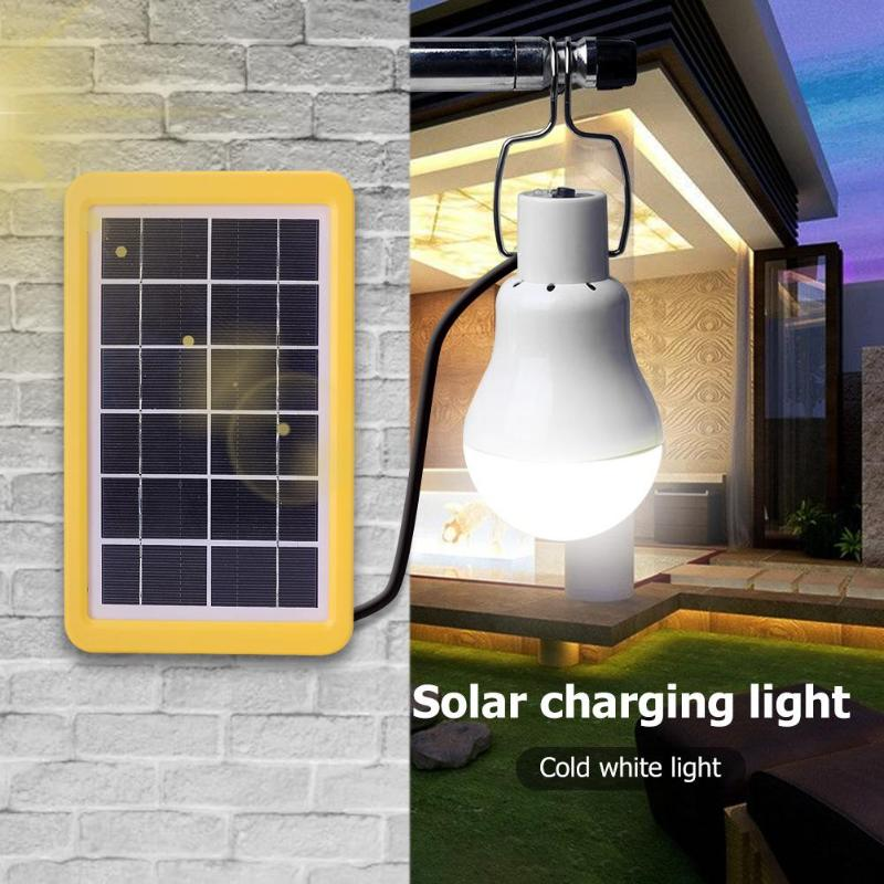 1 for 3 Solar Charging Light Lamp Outdoor Camping Portable Garden Bulb Set with 5m Cable