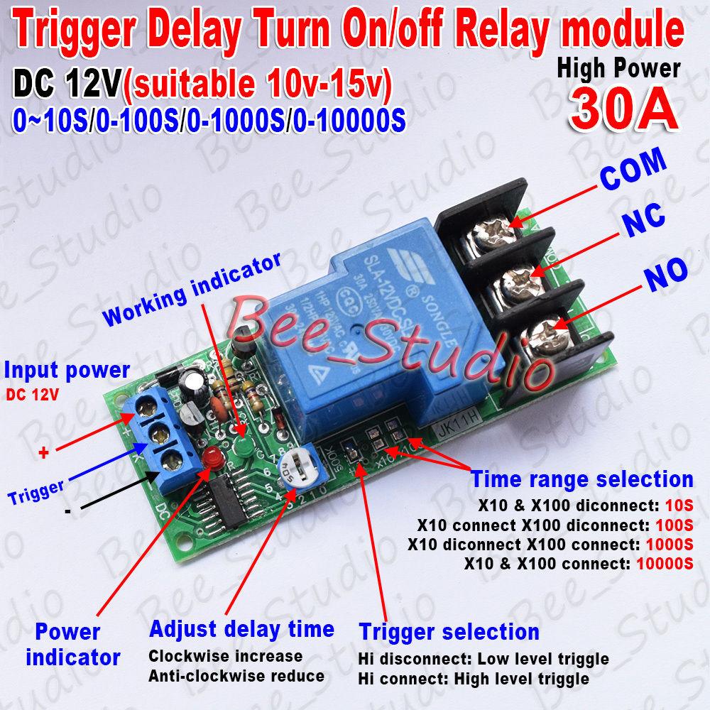 DC 5V 12V 24V High Signal Off Delay Turn Off on Timer Relay Module Switch PLC