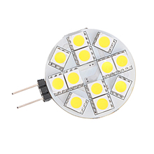 3X G4 12 SMD 5050 LED Warm White RC Marine Light Camper Spotlight Bulbs Lamp 2W led light bulb g4 15led smd 5630 cold white warm white spotlight bulbs car auto marine rv round lamp bulb ac dc12v 330 360lm