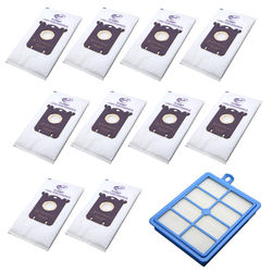 10 pces aspirador de pó coletando sacos s-saco + 1pcs malha de filtro para philip e electrolux alguns modelos