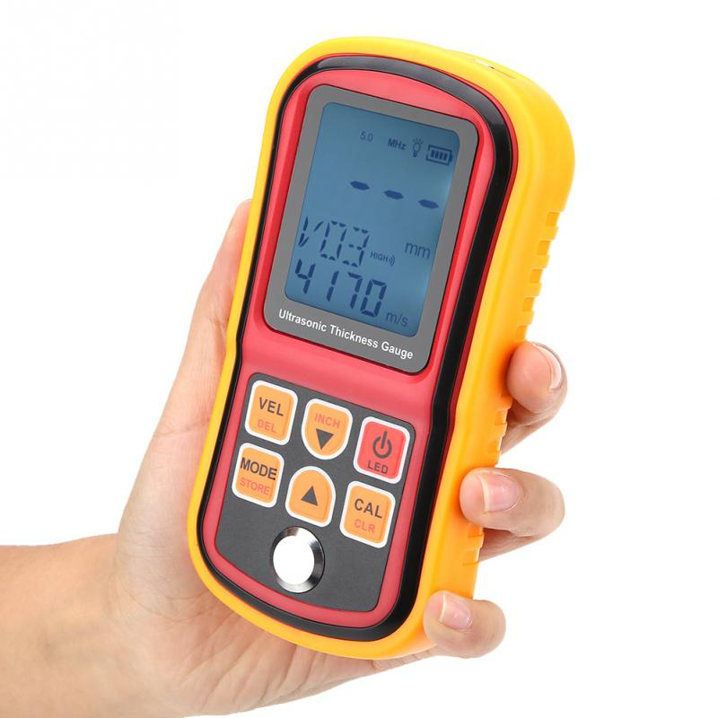 GM130 Professional Metal Thickness Gauge Tester Digital Ultrasonic Thickness Gauge 1 300mm Steel Width Testing Monitor