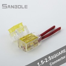 Terminal Blocks Yellow Fast Wire Connector Avoid Peeling Connection Dual Row The Broken Line (20PCS)