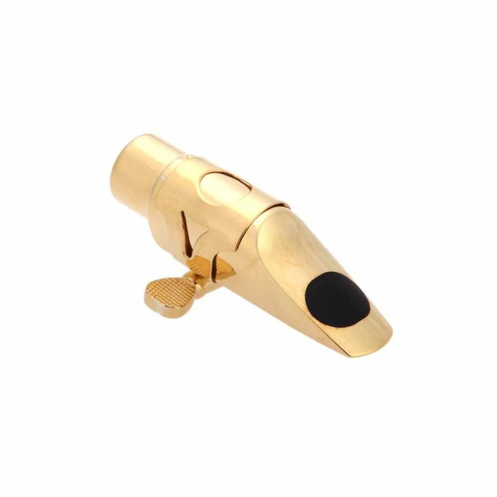Jazz Soprano saxofón 5C boquilla de Metal + almohadillas + hebilla de tapa con chapado en oro