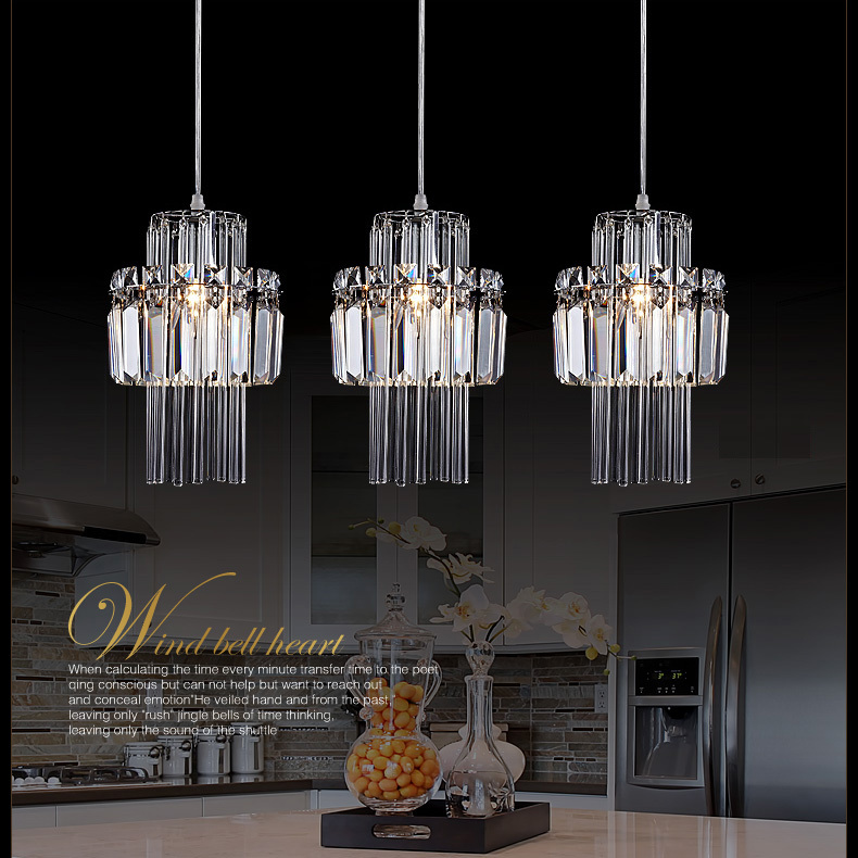 Free Shipping Kitchen Chandelier Crystal Lamp 3 Lights Big Luxury Crystal  Chandelier Restaurant Bar Dining Room Crystal Lighting In Chandeliers From  Lights ...