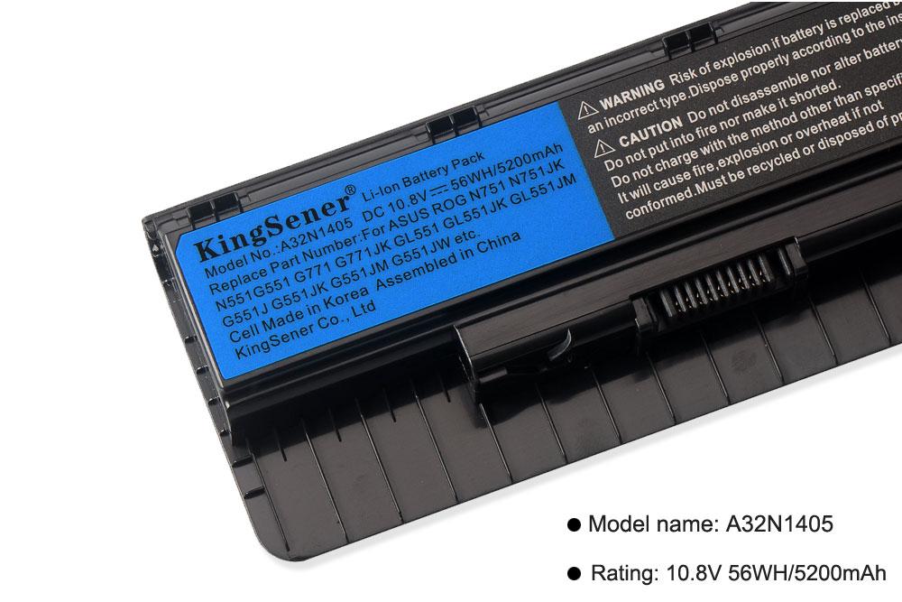 10,8 V 56WH A32N1405 nueva batería para ASUS ROG N551 N751 N751JK G551 G771 G771JK GL551 GL551JK GL551JM G551J G551JK g551JM G551JW - 5