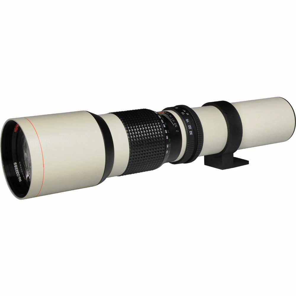 JINTU Blanc Puissance 500mm f/8.0 Téléobjectif pour Pentax K7 K20D K200D K10D K100D K-X K-M K-R K20D K10D K5 K3 K mout Appareil Photo REFLEX