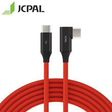 JCPAL FlexLink USB-C Cable 100W Type-C PD Charge 90-degree connector 2M
