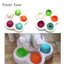 Funny Pet Toys Intellectual Food Turntable Disk Automatic Rotation Colorful For Cats Crazy Play Interactive Toy Cat