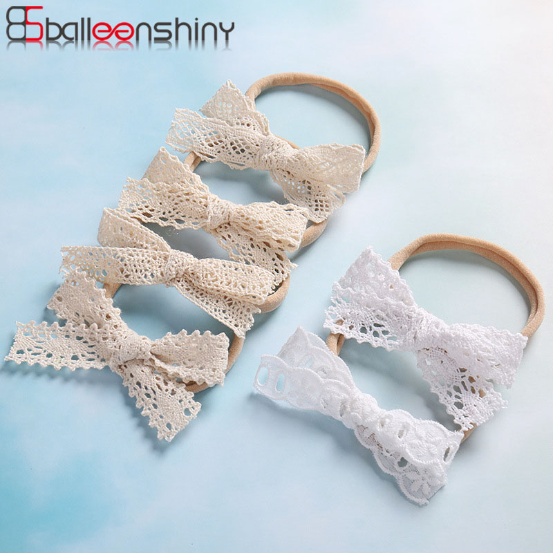 BalleenShiny Baby Headband Lace Bow Hair Band For Girls Lovely Baby Girl Hair Accessories Infant Toddler Headwear Kids GiftsBalleenShiny Baby Headband Lace Bow Hair Band For Girls Lovely Baby Girl Hair Accessories Infant Toddler Headwear Kids Gifts
