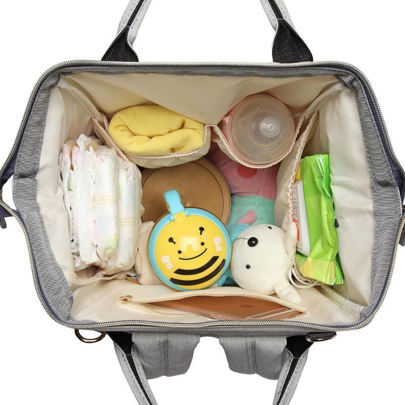 Image 4 - Lequeen сумка для кормящих мам, подгузник для мам, брендовая Большая вместительная детская сумка, рюкзак для путешествий, дизайнерская сумка для кормящих мам для ухода за ребенком