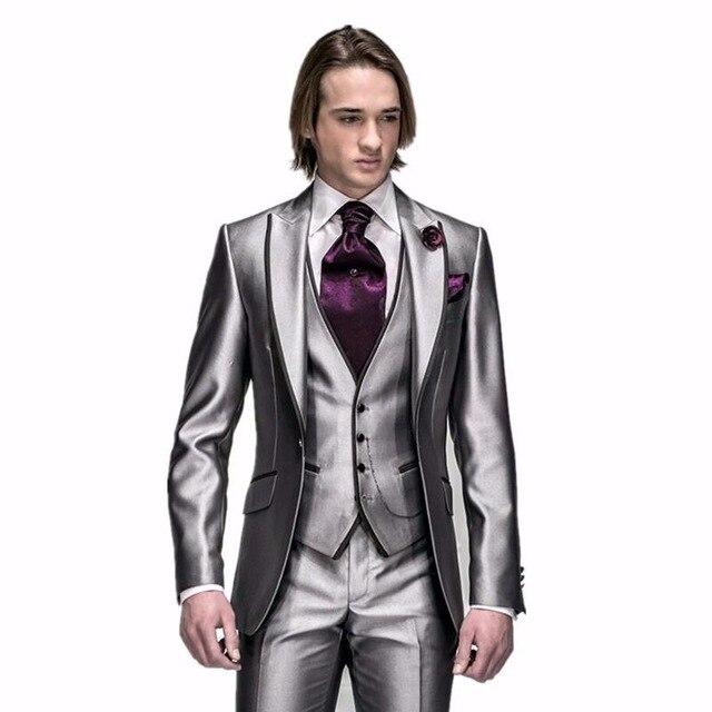 Dernières Manteau Pantalon Designs Beige Hommes Costume De Bal Smoking Slim Fit 3 Pièces Marié De Mariage Costumes Pour Hommes Blazer Personnalisé terno Masuclino - 4