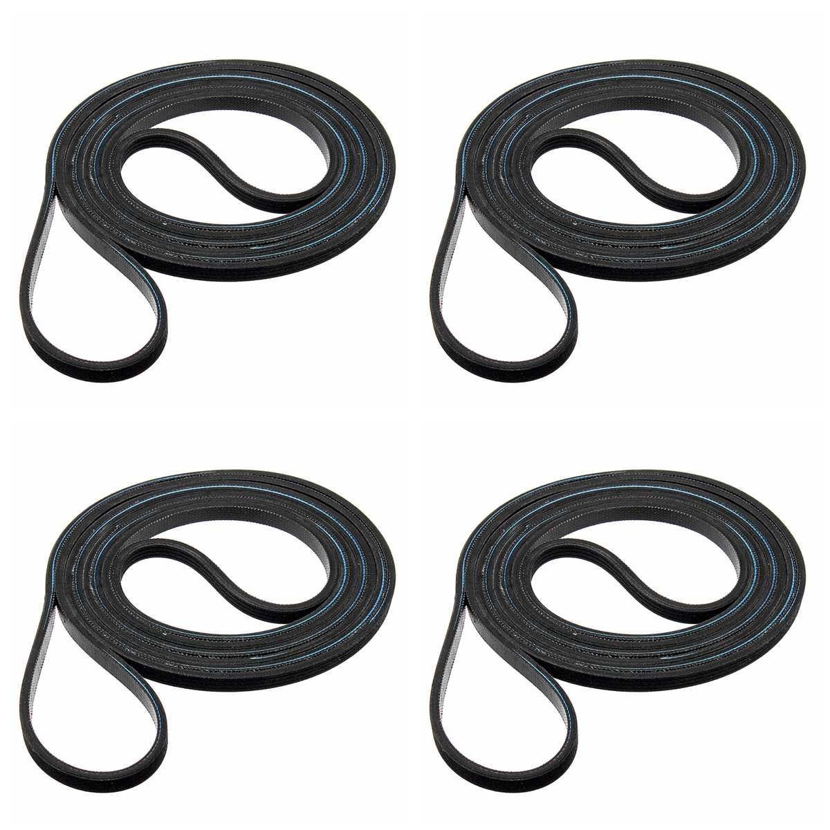 4Pcs 220cm 0.6cm Dryer Drum Belt For Frigidaire Electrolux 137292700 AP4565702 PS3408299 WE12M29 134503900