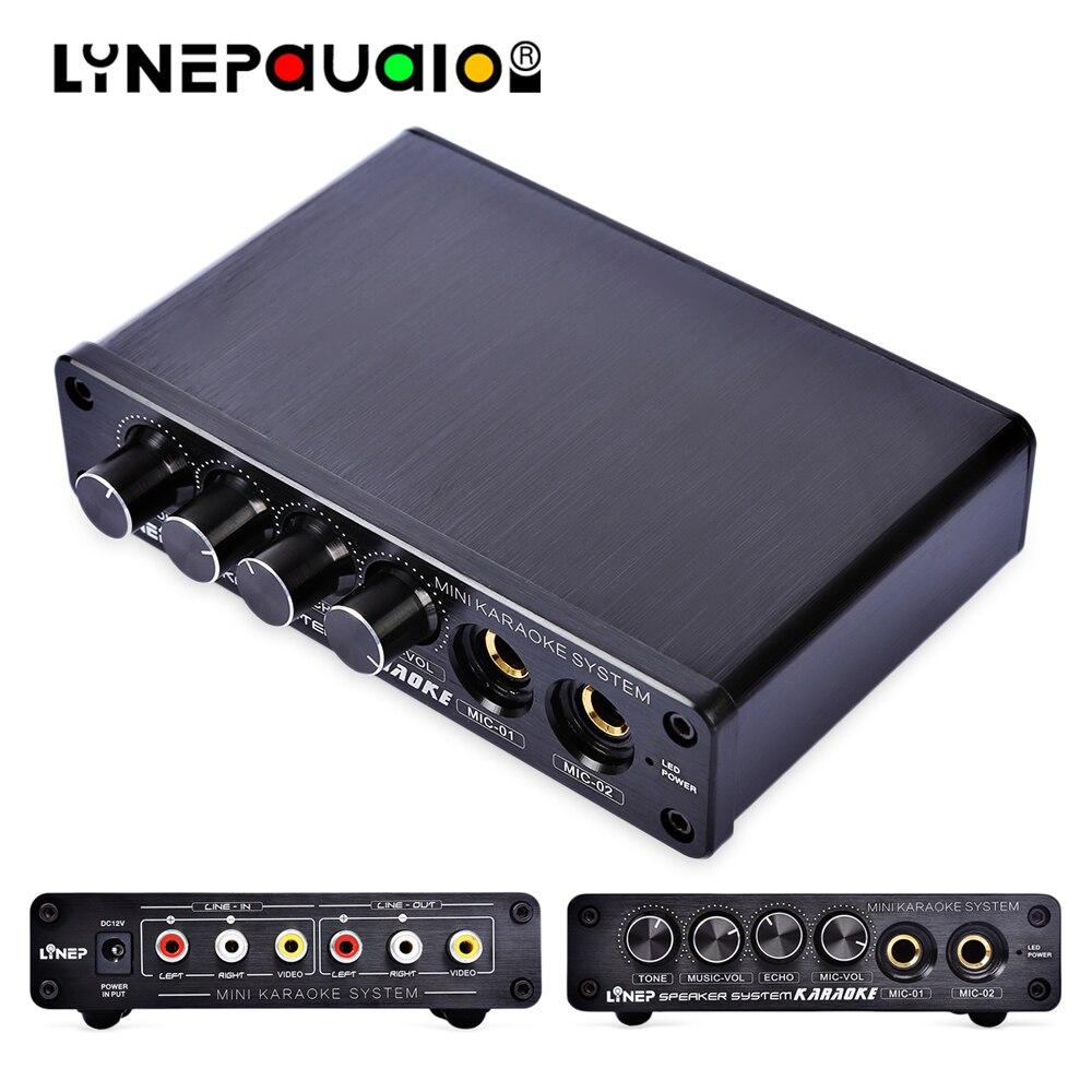 Karaoke Dual Microphone Input Karaoke Mixer Support Dynamic Microphone Input With Reverb Mix Accompaniment Volume Adjustment