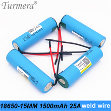 original battery 18650 15M inr18650-15M 1500mah 25A wire for power tools screwdriver battery and E-cig battery for Turmera jun23