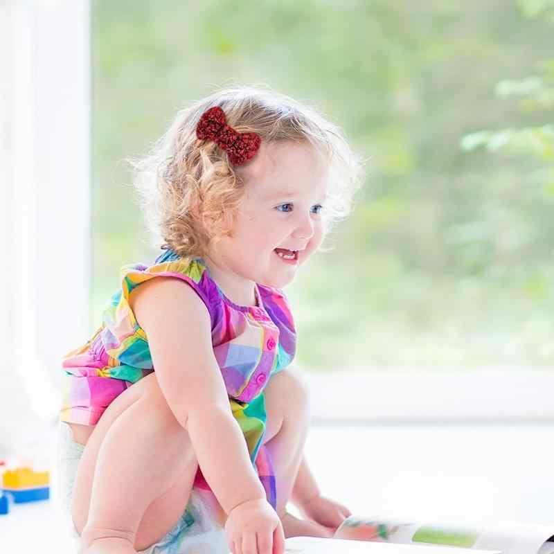 ベビーヘアクリップ弓グリッタースパンコール子供女の赤ちゃんちょうバレッタヘアクリップパーティーヘアアクセサリー