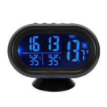 New 3 in 1 Digital LED Electronic Clock Time Thermometer Voltmeter for 12V Car Luminous