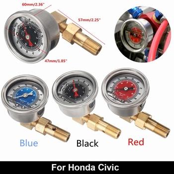 Nowy samochód Integra paliwa ciśnienia cieczy miernik zestaw adapterów M12 śruby uniwersalny dla Honda dla Civic 1996-2000 tanie i dobre opinie Autoleader 47cm Stainless Metal 160g none 0-100 PSI TURBO NITROUS 60cm 57cm