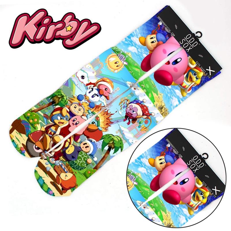 "Wellcomics 4x16"" Game Kirby Super Star Cotton Socks Colorful Stockings Warm Tights Cosplay Costume Unisex Cartoon Fashion Gifts"