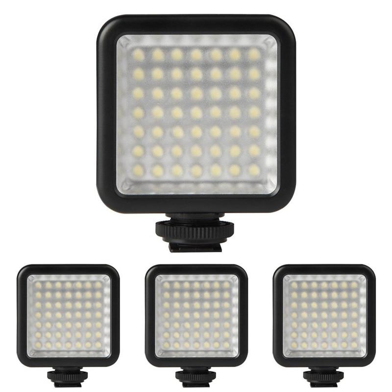 4X Mini DC 3V 5.5W 49 LED Video Camera Light Panel Lamp 6000K for Canon Nikon DSLR Camera Camcorder DVR DV