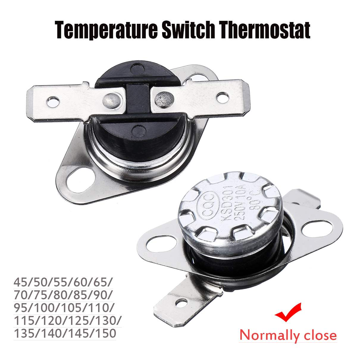 Normal Open 1pcs KSD301 Temperature Controlled Switch Thermostat 85°C N.O