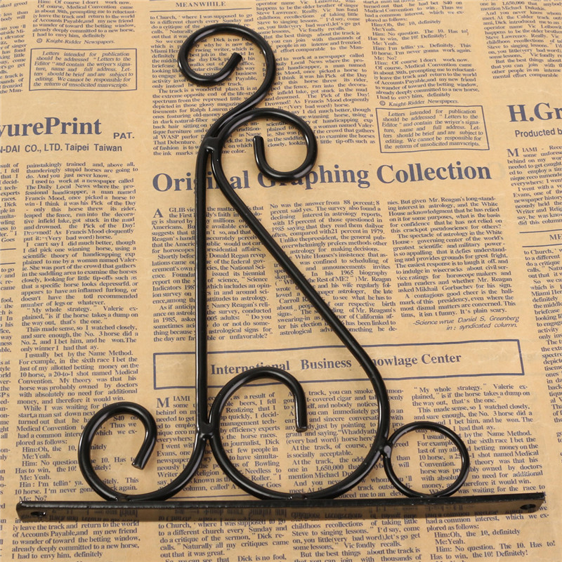 Wrought Iron Art Hooks Hanging Plant Stand Flower Pot Hook Holder Classic Romantic Landscaping Bathroom Decor White Black 1027 in Hooks Rails from Home Garden