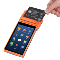Issyzonepos 5.5 Android 6.0 POS Terminal 4G Handheld Bluetooth PDA SIM PSAM WIFI GPRS Receipt Payment Printer 1D/2D Scanner