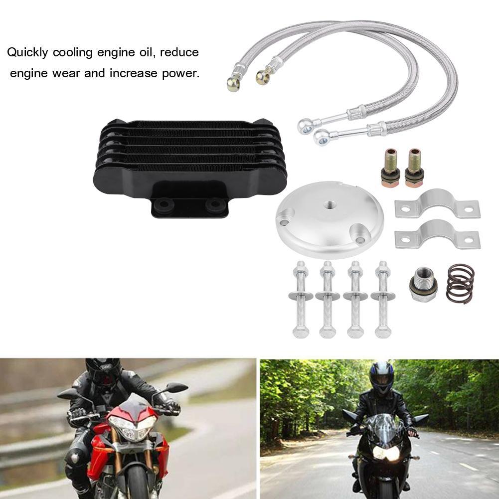 Quickly cooling engine oil Motorcycle Engine Oil Cooler Cooling Radiator Kit for Suzuki GN125 EN125 EN150