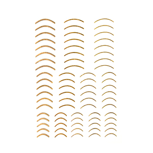 Image 5 - 1pc gold 3D nail sticker curve stripe lines nail stickers adhesive stripe band Nail Art stickers stickers Rose gold silver