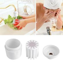 Removable Bathroom Shower Head Filter Healthy In-Line Faucet Filter Purifier Softener Clean Water Filter Bathroom Supplies overvalue in line chlorine shower head filter faucet softener remove water purifier chrome fit for kitchen