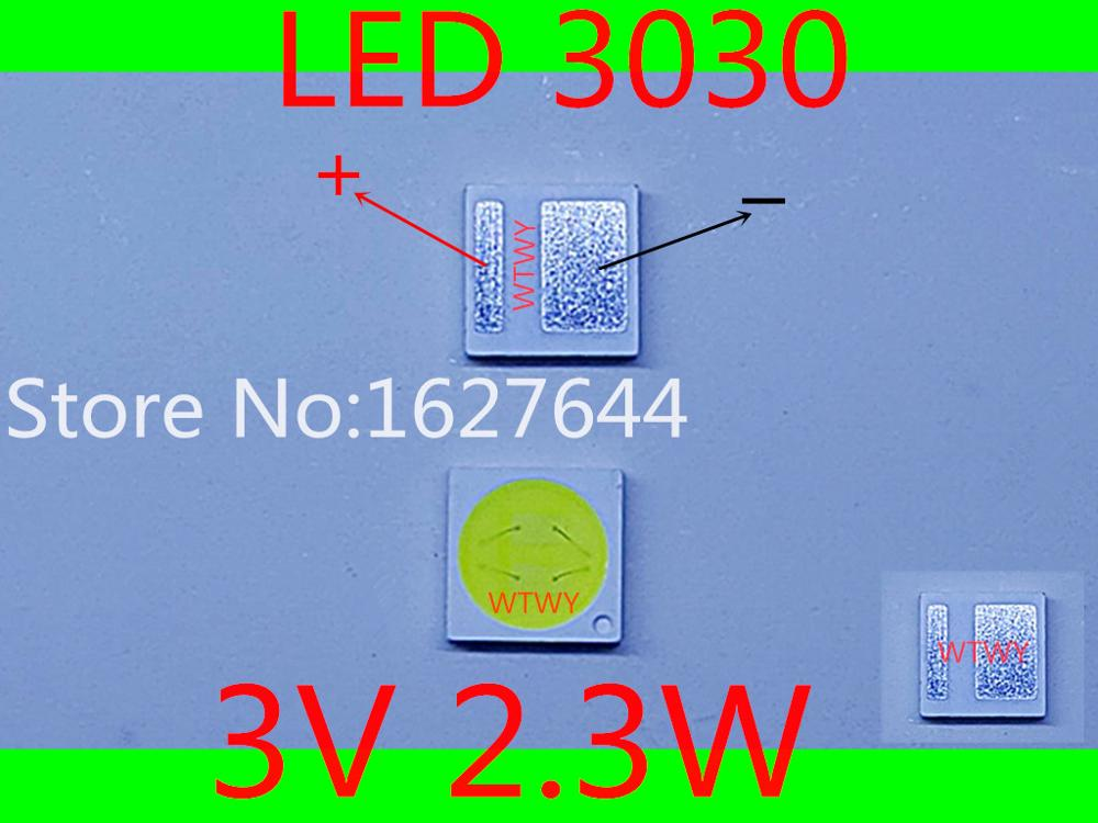 500PCS FOR LCD TV repair JUFEI led TV backlight strip lights with light emitting diode 3030