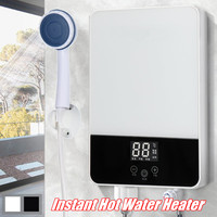 Instant Heating Electric Hot Water Heater 220V 6500W Quick Heating Constant Temperature With Shower Nozzle LED Display
