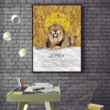 все цены на Animal Wall Art Canvas Poster Still Life Print Painting Nordic Lion Decoration Picture Modern Living Room Decor No Frame онлайн