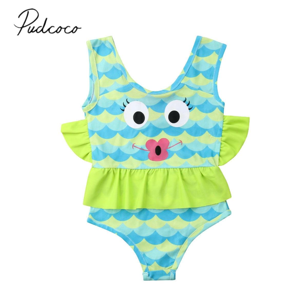 43a4b01ad8ee4 Detail Feedback Questions about 2019 Brand New Toddler Kid Baby Girl Fish  Tankini One Piece Ruffled Cotton Bikini Swimwear Swimsuit Bathing Suit  Beachwear ...