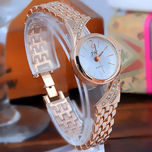 New Design Korea Hot Style Quartz Watch for Women Delicate Fashion Simple Gold Steel Strap Gift