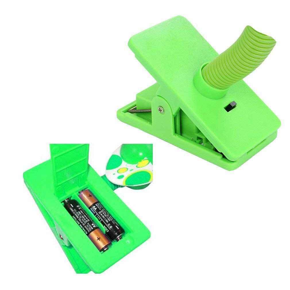 รถเข็นเด็กทารกแบบพกพา Cot แบตเตอรี่คลิป USB Fan รถเข็นเด็กทารกรถเข็นเด็กความปลอดภัย Mini-Clip-on พัดลมสำหรับรถเข็นเด็กอุปกรณ์เสริมสีเขียว