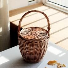 ABDB-Fashion Summer New Women Beach Basket Straw Hand Bag Co
