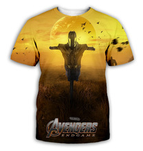 YX Girl 2019 Hot  New The Avengers 4 3D Digital Printing Summer Mens T-shirt Tee Tops 006