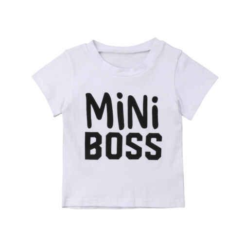 2019 תינוק ילד ילדה קיץ בגדי חולצה צוות צוואר מקרית Loose חולצות חולצה לילד ילדי פעוט 1- 5 T