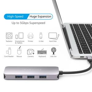 Image 3 - Dodocool 7 في 1 متعددة الوظائف USB C محور مع 4K HD الناتج SD/TF PD شحن 3 منافذ USB 3.0 لماك بوك لماك بوك برو وأكثر من ذلك