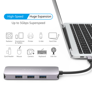 Image 3 - dodocool 7 in 1 Multifunction USB C Hub with 4K HD Output SD/TF PD Charging 3 USB 3.0 Ports for MacBook for MacBook Pro and More