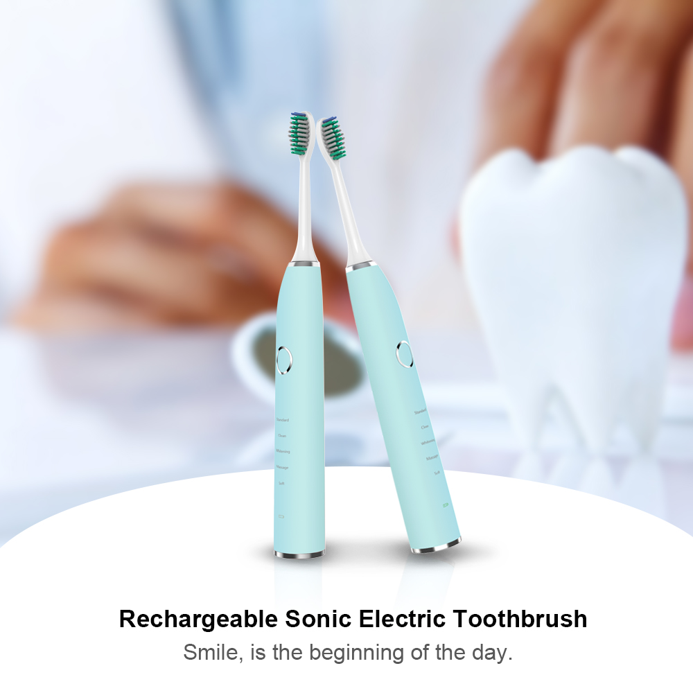 Electric Toothbrush Rechargeable Sonic Electric Toothbrush Ultrasonic Toothbrush teeth brush 4 color choose