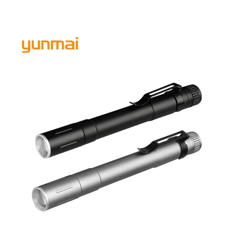 1 Model 2000LM Mini Portable Small Penholder Led Flashlight Night Walking Lighting Car Maintenance Work Torch Aluminum Alloy