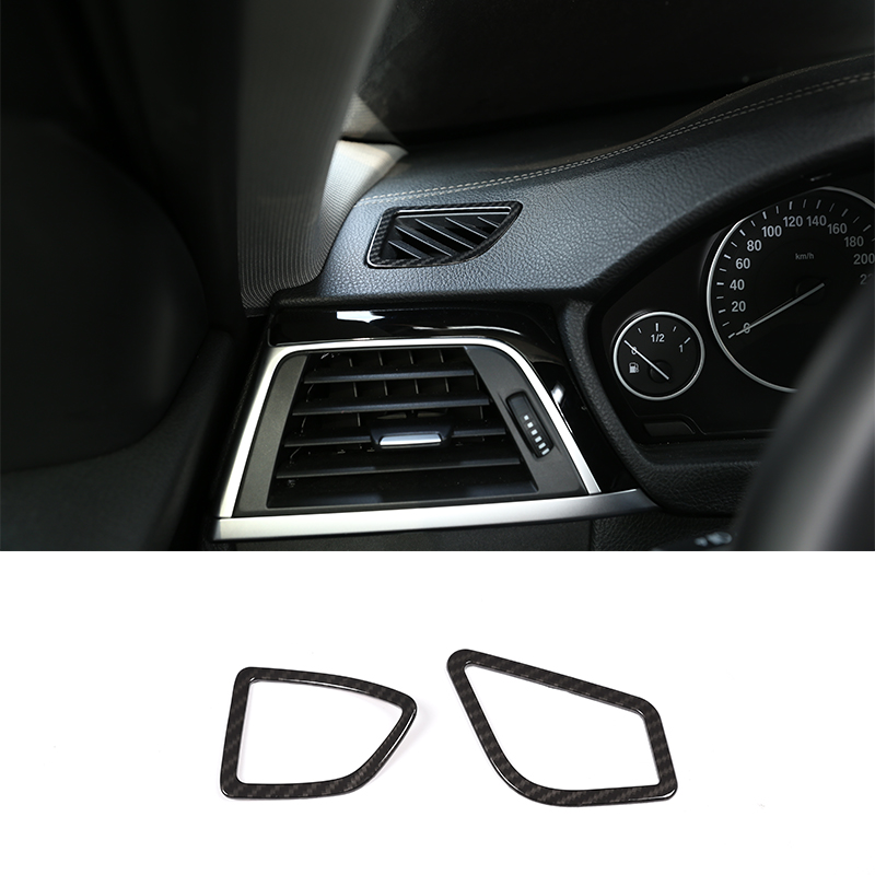 4PCS Carbon Fiber Window lift Cover Trim For BMW 3 Series 4 Series 2013-2018