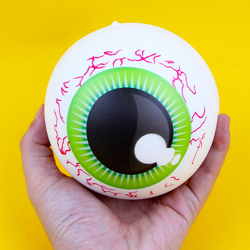 Funny Whole Eye Eyeball Squishy Slow Rising Toys 10cm Colorful PU Decompression Vent Anti Stress Toys For Children #YC