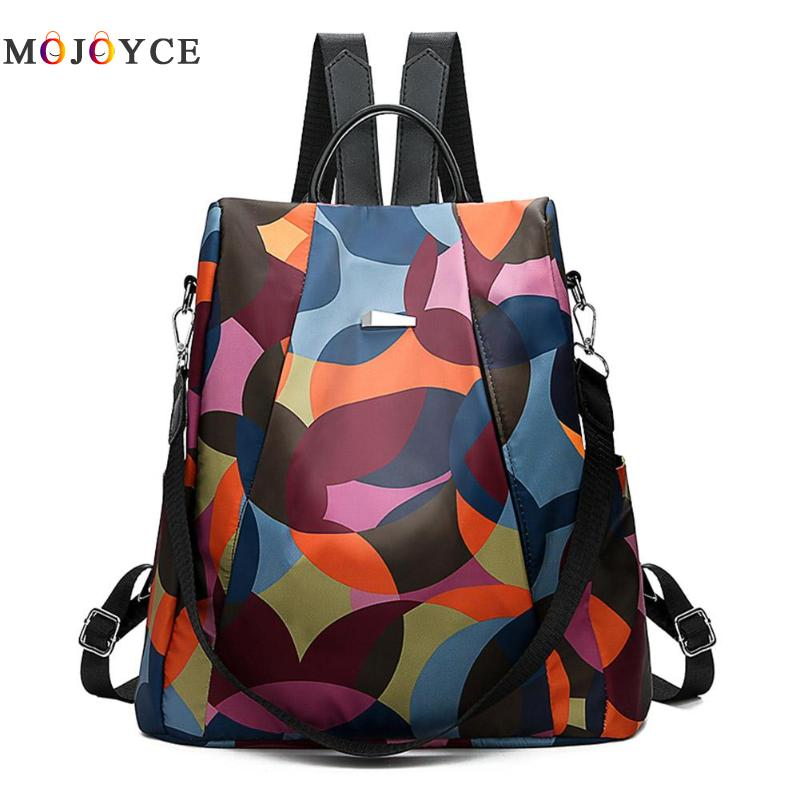Oxford Cloth Women Backpack Anti Theft Girls Schoolbags Teen Travel Daypack Shoulder Back Pack
