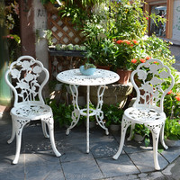 set of 3 pcs New Patio Furniture modern Design garden chair and table Cast Aluminum Bistro Set