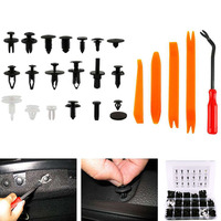 For Honda Toyota For Ford 435pcs Car Body Trim Clip Retainer Bumper Rivet Screw Panel Push Fastener Kit Auto Fastener Clips