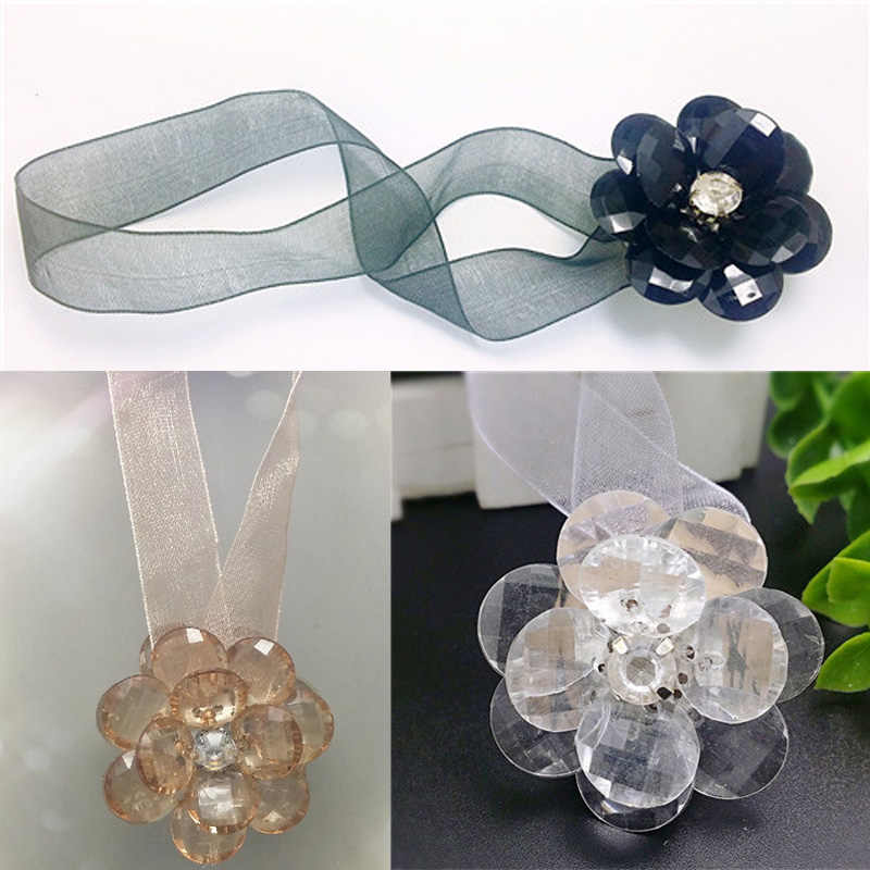 1Pcs Window Holder Curtain Buckle Curtain Clips Portable Magnetic Tiebacks Curtains Window Decor Magnet Flower Shape